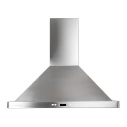 """Cavaliere - Cavaliere-Euro SV218B2 Stainless Steel Wall Mount Range Hood - 36"""" - Cavaliere Stainless Steel 218W Wall Mounted Range Hoods with 6 Speeds, Timer Function, LCD Keypad, Aluminum Grease Filters, and Halogen Lights."""
