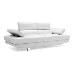Zuo Modern - Zuo Modern Blazer Sofa in White - Sofa in White belongs to Blazer Collection by Zuo Modern The Blazer is the ultimate modern living piece. It has adjustable arms and headrests with a full bonded leather body. Sofa (1)
