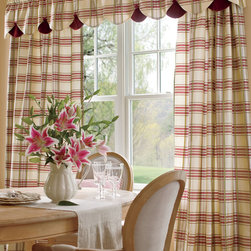 Greenwich Plaid Lined Curtains - Two-toned raised cording on this woven plaid gives dimension and texture to this fabric.
