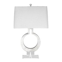 Bassett Mirror - Bassett Mirror Rialto Table Lamp L2752TEC - Bassett Mirror Rialto Table Lamp L2752TEC