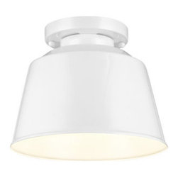 Murray Feiss - Murray Feiss OL15013 Freemont 1 Light Outdoor Flush Mount Ceiling Fixture - Features: