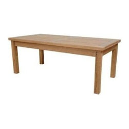 """Anderson Teak - Montage Coffee Table 48""""W 24""""D 18""""H - The Montage Rectangular Coffee Table is the perfect addition for your Patio. It is simple, straightforward and sturdy table that is strong enough to sit on, perfect for snack or as a functional table. Can be accompany with any low seating collections as well as with other deep seating collections."""