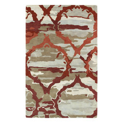 "Kaleen - Kaleen Brushstrokes BRS02 (Red) 5' x 7'9"" Rug - This Hand Tufted rug would make a great addition to any room in the house. The plush feel and durability of this rug will make it a must for your home. Free Shipping - Quick Delivery - Satisfaction Guaranteed"