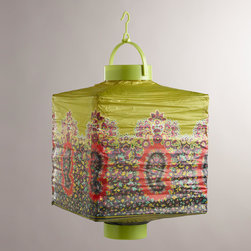 Caribe Paisley Battery-operated Paper Lanterns - These pretty paper lanterns would be perfect for summer parties and entertaining in the backyard.