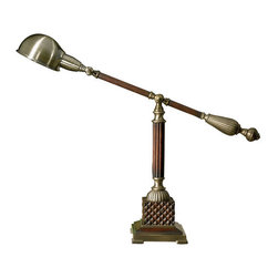Uttermost - Uttermost 29425-1 Dalton Desk Lamp - Uttermost 29425-1 Carolyn Kinder Dalton LampThis appealing wood desk lamp has a burnished wood tone finish, with aged bronze metal detail.Features: