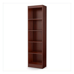 South Shore - South Shore Axess 5 Shelf Narrow Bookcase in Royal Cherry - South Shore - Bookcases - 7246758 - Ideal for your binders books or decorative items this versatile 5-shelf bookcase can meet all your storage needs even in tight spaces. Both functional and attractive with its sleek contemporary styling this bookcase is sure to enhance the look of any room in your home.