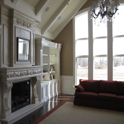 Custom fireplace mantle/overmantle - With a custom stone fireplace mantel, you can completely change the look and style of your fireplace more easily than you might think.