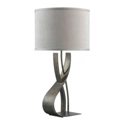Kenroy Home - Kenroy Home Canyon Table Lamp Smoked Bronze Finish - 32120SMB - Sculptural and distressed, Canyon's unique shape evokes the curves and polish of architect Frank Gehry's designs.