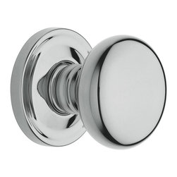 Baldwin Hardware - Baldwin Estate 5015 Classic  Door Knob Set - Half Dummy  - Satin Nickel - 5015 Product Details: