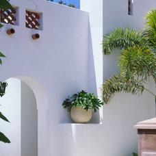 Tropical Exterior by Jarosz Architect, P.A.