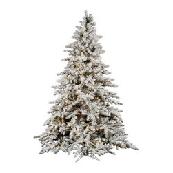"""Vickerman A895176 Flocked Utica Fir Christmas Tree (with lights) - Get 10% discount on your first order. Coupon code: """"houzz"""". Order today."""