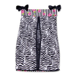 Trend Lab - Trend Lab Zahara Diaper Stacker - 106962 - Shop for Diaper Stackers from Hayneedle.com! Just because you need to have diapers around doesn't mean that you want to look at them and who wouldn't rather look at the Trend Lab Zahara Diaper Stacker instead? A body of 100% cotton with 100% polyester trim sports a zesty zebra print with a floral stripe pattern and black satin ties at the top. Corrugated plastic inserts in the top and bottom help this handy diaper stacker keep its form. This stacker holds up to three dozen diapers.About Trend LabBegun in 2001 in Minnesota Trend Lab is a privately held company proudly owned by women. Rapid growth in the past five years has put Trend Lab products on the shelves of major retailers and the company continues to develop thoroughly tested high-quality baby and children's bedding decor and other items. With mature professionals at the helm of this business Trend Lab continues to inspire and provide its customers with stylish products for little ones. From bedding to cribs and everything in between Trend Lab is the right choice for your children.