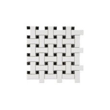 Product Reviews: SomerTile 9.75x9.75-in Basket Weave 1x2.5-in White/Black Porcel