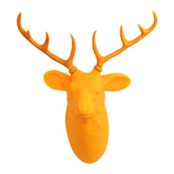 Dreams Inc. - Hunting Trophy Door Light, Yellow Deer - Never fumble in the dark again with these Hunting Trophy Door Lights! These guardians of the night can also keep your keys easily accessible as you hang them on an antler, horn or husk. Illuminate any space with these clever creatures without having to turn a switch - they have motion sensors that will turn off automatically after 20 seconds.