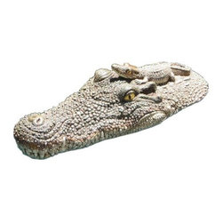 Poolmaster - Crocodile Head Float - Poolmaster's Crocodile Head Float floats in your pool  spa and pond or makes a great dTcor item for your deck or garden.  This item cannot be shipped to APO/FPO addresses. Please accept our apologies.