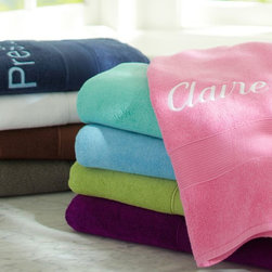 PBteen Classic Organic Bath Towels - Dry off on the double with these soft, absorbent, eco-friendly towels.