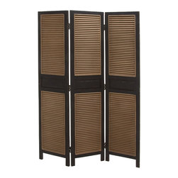 Simple and Beautiful Wood 3 Panel Screen - Description: