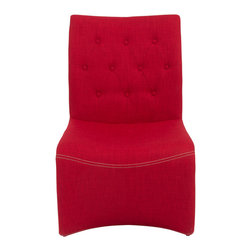 Eurostyle - Ville Lounge Chair (Set of 2) - Red - Fabric over foam