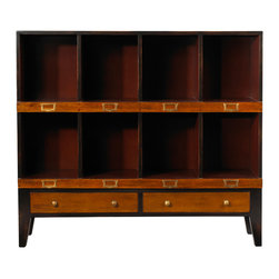 French Heritage - French Heritage Storage Unit, 8 Cubbyholes - Showcase books and collectables in a handsome order. Our clean, scholarly and attractive units bring a well tailored order to your den, home office or study.- One Drawer.- Four Large Cubbyholes.- Four Small Cubbyholes.- Cherry/Maple. - Weight: 80lbs