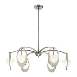 George Kovacs by Minka P906-084 6-Light Chandelier - Brushed Nickel - 30W in.