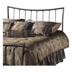 """Hillsdale - Hillsdale Edgewood Metal Headboard in Magnesium Pewter Finish-Twin - Hillsdale - Headboards - 1333340 - Featuring the surprising look of a traditional shape the Magnesium pewter-finished Edgewood Headboard is seamlessly crafted to fashion a truly graceful bed space. Too soft to be contemporary yet too clean to be considered traditional the Edgewood fits beautifully in those """"in between"""" home decors."""
