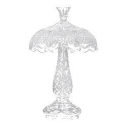 """Waterford Crystal - Waterford Crystal Achill Hurricane Lamp 9530001111 - Waterford Achill Hurricane Lamp  -  Rendered entirely in intricately detailed fine crystal, this stunning Achill 23"""" Hurricane Lamp brings radiance to any desk or bedside table.  -  Don't Buy From An Unauthorized Dealer  -  Genuine Waterford Crystal  -  Size: 23 inches tall  -  Fully Authorized U.S. Waterford Crystal Dealer  -  Brand New In The Original Waterford Crystal Box  -  Each Piece Is Checked 4 Times To Ensure It Arrives In Perfect Condition  -  Stamped With The Waterford Seahorse Symbol Of Excellence  -  Waterford Crystal Hurricane Lamps Collection"""