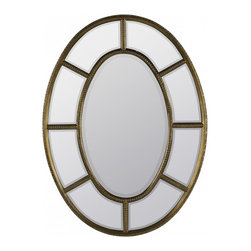 """Cooper Classics - Wilkes Distressed White Rectangular Mirror - Compliment your home's decor with the lovely elgin mirror.  This beautiful wall mirror has an antique gold finish with aged red undertones that will enhance any room.  Frame Dimensions: 30.5""""W X 40.75""""H; Mirror Dimensions: 16""""W X 26.5""""H; Finish: Antique Gold with Aged Red Undertones; Material: Polyurethane; Beveled: No; Shape: Oval; Weight: 23 lbs; Included: Brackets, Ready to Hang"""
