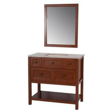 Ashland 36 in. W Vanity in Amber with Vanity Top in Sienna and Mirror-ALM36P3-A
