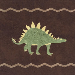Sweet Jojo Designs - Dinosaur Floor Rug by Sweet Jojo Designs - The Dinosaur Floor Rug by Sweet Jojo Designs, along with the  bedding accessories.