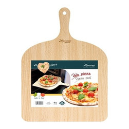 "Eppicotispai - Eppicotispai Birchwood Pizza Peel, 16 x 12"" - The large surface can accommodate a 16 x 16 in pizza. Handwash recommended. Hanging loop offers quick accessibility. Product Dimensions: 16 x 16 x 3 in. . Made in Italy.."