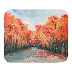 Brazen Design Studio - Mousepad - Autumn Journey Landscape Painting - Art for Home or Office - Spice up your desk or work areas with this beautiful and colorful piece of art on a mouse pad! These mouse pads are top-quality and measure approximately 9.25��_ by 7.75��_ and 1/4��_ thick with a rubber base. They are heavy duty and meant to last.