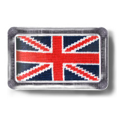 Needlepoint Paperweight: British Flag | Pieces - I'm a big sucker for all things Union Jack, and this clever needlepoint paperweight adds a great dash of English pizazz to a desktop.