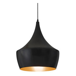 ZUO PURE - Copper Ceiling Lamp Matte Black - With beautiful curves and a lustrous bronze sheen, the Copper ceiling lamp will not go unnoticed. One 100w bulb included and is UL approved.