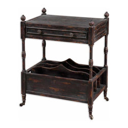 Uttermost - Black And Red Phineas Magazine Table - Black And Red Phineas Magazine Table