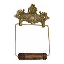 Renovators Supply - Toilet Paper Holder Brass Crest Tissue Holder P/L - Antique Toilet Tissue Holders: Beautifully ornate these reproduction tissue holders brighten up any bathroom. Made of 100% solid brass and polished & lacquered these tissue holders are tarnish-resistant for many years to come.