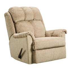 Chelsea Home Furniture - Chelsea Home Rocker Recliner in Tahoe Sand - Rocker Recliner in Tahoe Sand belongs to Verona IV collection by Chelsea Home Furniture.