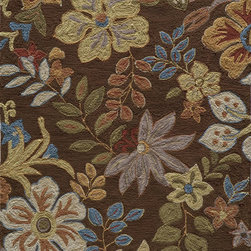 Momeni - Momeni Summit Brown Flowers Transitional 8' x 10' Rug by RugLots - Inspired by its surroundings, Summit is a casual collection of hand-hooked rugs in bold floral and ethnic patterns. Made of 100% polyester.