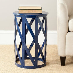 Safavieh - Bertram Stool Side Table - FOX3200A - Shop for Home Furnishings and Accents from Hayneedle.com! Whether your style leans more traditional or modern the industrial beauty of the Bertram Stool Side Table is certain to find its perfect place. The unique lattice design is crafted of durable iron providing your living room with an unexpected elegance. Available in your choice of finish you can truly customize the look. Just the right size to set your coffee cup or a favorite book it's as convenient as it is lovely.About SafaviehConsidered the authority on fine quality craftsmanship and style since their inception in 1914 Safavieh is most successful in the home furnishings industry thanks to their talent for combining high tech with high touch. For four generations the family behind the Safavieh brand has dedicated its talents and resources to providing uncompromising quality. They hold the durability beauty and artistry of their handmade rugs well-crafted furniture and decorative accents in the highest regard. That's why they focus their efforts on developing the highest quality products to suit the broadest range of budgets. Their mission is perpetuate the interior furnishings craft and lead with innovation while preserving centuries-old traditions in categories from antique reproductions to fashion-forward contemporary trends.