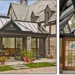 Custom Glass Roof Pool House -
