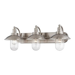 Minka Lavery - Minka Lavery 5133 3 Light Bathroom Vanity Light with Clear Shade from the Downto - Three Light Bathroom Vanity Light with Clear Shade from the Downtown Edison CollectionFeatures: