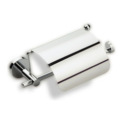 StilHaus - Toilet Roll Holder with Cover, Satin Nickel - Toilet roll holder with cover. Made of brass in 2 available finishes. Toilet roll holder with cover made of brass. Available in 2 finishes. From StilHaus Venus Collection.