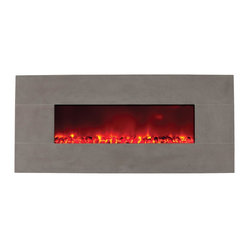Wall Mount Electric Fireplace, Stone Series