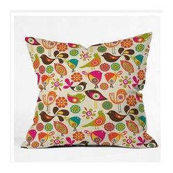 Valentina Ramos Little Birds Throw Pillow