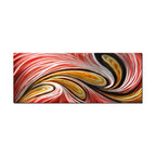 Pure Art - Sweeping Magenta Modern Metal Art - Swirls of color and contrast create movement and depth in this contemporary metal artwork. The piece features bold sweeps of color highlighted with silver streaks, created by a hand grinding technique applied to the metal. The upward and downward swirls of color create a visually arresting sensation that pulls your eye in and draws it around the artwork.Made with top grade aluminum material and handcrafted with the use of special colors, it is a very appealing piece that sticks out with its genuine glow. Easy to hang and clean.