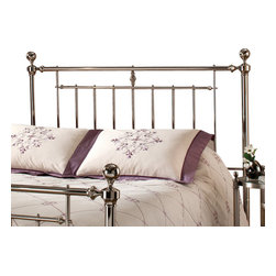 Hillsdale Furniture - Hillsdale Holland Panel Headboard with Rails - Twin - The shiny nickel finish and cannonball finials are the hallmarks of the Holland bed. A traditional style with just a bit of flair, it makes a wonder addition to any master bedroom or guest room.