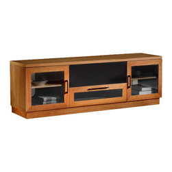 "Furnitech - 60"" Contemporary TV Media Console - 60"" Contemporary TV Media Console for Flat Screen and Audio Video Installations."