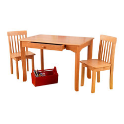 KidKraft - Avalon Table And Chair Set - Honey by Kidkraft - Our Avalon Table and 2 Chair Set is simple, elegant and would look perfect in any child�s room. The sturdy table is an ideal place for kids to finish up homework, play with their favorite toys or even eat a quick snack.