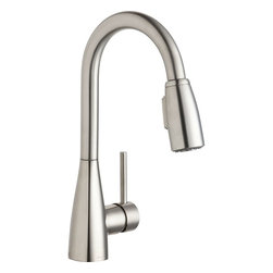 Elkay - Single Lever Pull Down Bar Faucet LS - Product height: 2.76. Product min width: 9.06. Product depth: 22.83. Sgl lvr pd bar fct lsa brilliant mixture of upscale design and commercial integrity. Avado commands attention. The modern aesthetic delivers impact on every detail and precision in its strong lines. Avado pull-down bar / prep faucet 14 gauge.