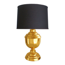 Vintage Brass Table Lamp - Every room could use some shine, and this brass lamp is sure to provide it — even when the light's turned off!
