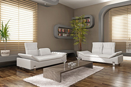 contemporary living room by MAGNOLIA BLINDS & MORE INC